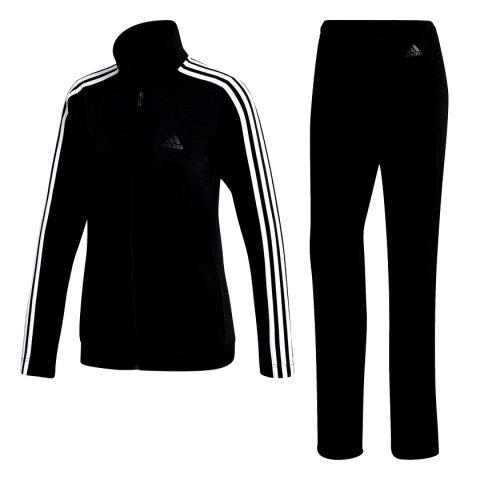 26b76dbcdc6 Agasalho Adidas Back 2 Basics 3 Stripes Feminino BK4674 - Preto Branco -  Botas Online Femininas