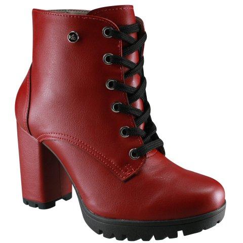 a327b9db18 Bota Ankle Boot Via Marte 18-4405 - Barolo (Napa) - Botas Online Femininas