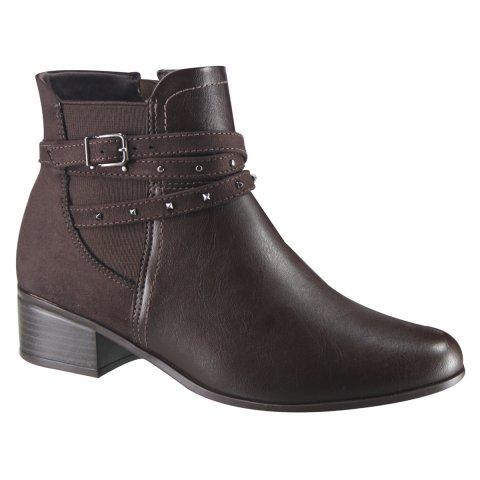 c90c520f9 Bota Feminina Ankle Boot Comfortflex 18-49303 000002 - Marrom (Vest Vegetal  Plus/Suede) - Botas Online Femininas, Masculinas e Infantis |  Mundodasbotas.com. ...