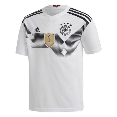 4586c2bdaa4 Camisa Adidas Oficial Alemanha I Infantil 2018 BQ8460 - Branco Preto -  Botas Online Femininas