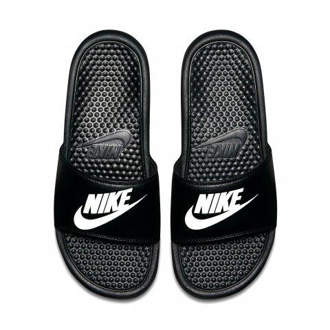 3598187a8c4 Chinelo Nike Benassi Just Do It 343880-0890 - Preto Branco - Botas Online  Femininas
