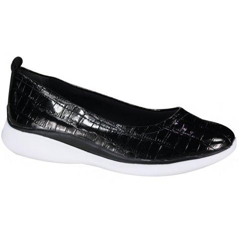 903d33a51 Sapato Comfortflex Ultrasoft Feminino 19-65301 000003 - Preto (Verniz  Croco/Plus) - Botas Online Femininas, Masculinas e Infantis    Mundodasbotas.com.br