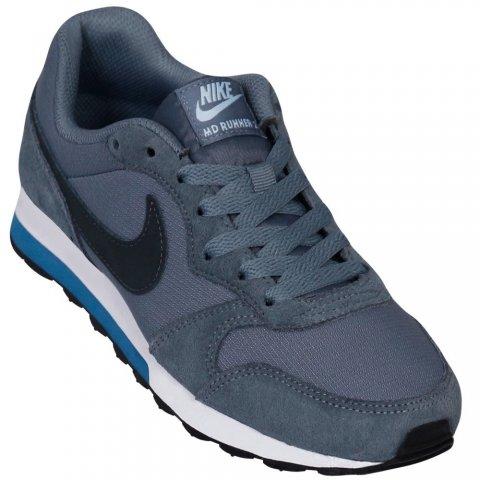 7126f5a4d7c09 Tênis Infantil Nike MD Runner 2 807316-408 - Cinza Azul - Botas Online  Femininas