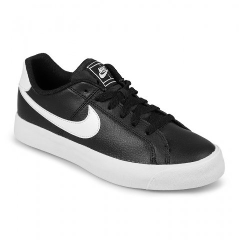30f5d5c832 Tênis Nike Court Royale Feminino AQ2810-001 - Preto Branco - Botas Online  Femininas
