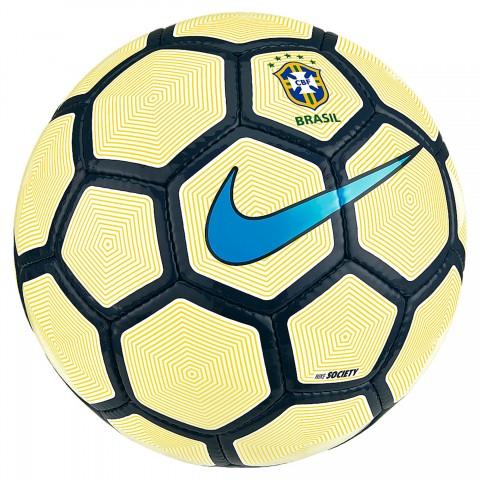 69a5683f2e Bola Nike Society CBF SC3083-100 - Amarelo Branco Azul - Botas ...