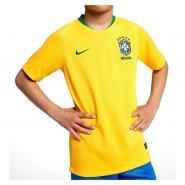 b4924644b8414 Camiseta Infantil Nike Brasil I 2018 19