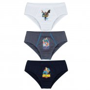 Kit C/3 Cuecas Lupo Superman Infantil