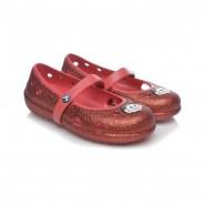 bc38674541 Sapatilha Infantil Crocs Carlisa Glitter Flat 14412 - Dourado ...