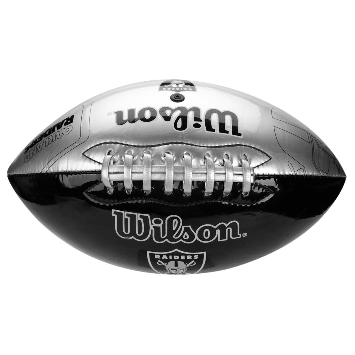 Bola Futebol Americano Wilson WTF1534 - Preto Prata - Botas Online ... e8c35da36c767