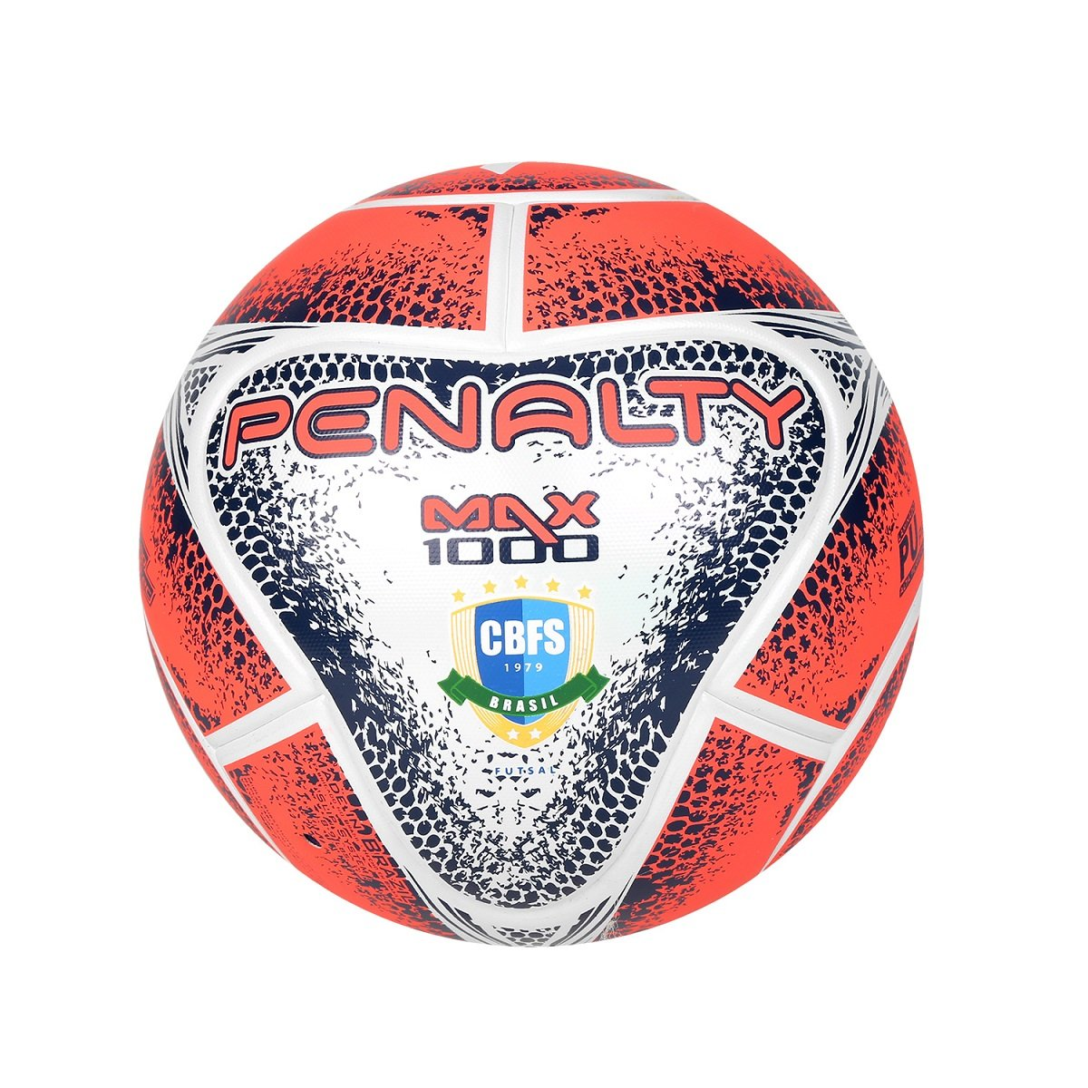 Bola Futsal Penalty Max 1000 VIII 541483-1461 - Branco Azul - Botas ... 4ef308f6034cc
