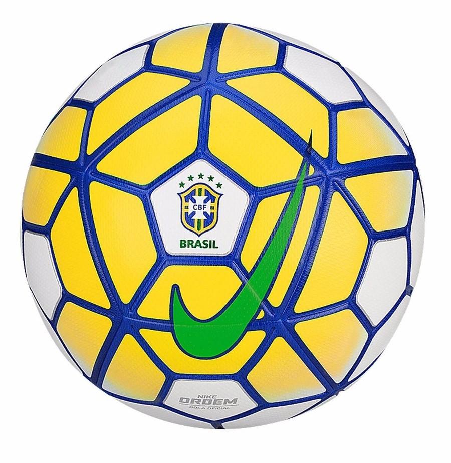 Bola Nike CBF Ordem Campo SC2807-100 - Branco Azul Amarelo - Botas ... ad970692bd8dc