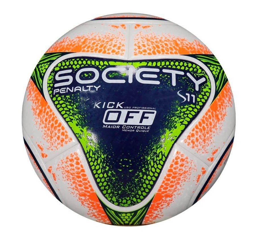 Bola S11 R1 Kick Off VIII Society Penalty 541510 1080 - Branco Azul ... 85e68053f5ebe