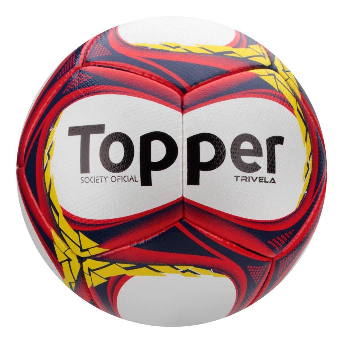 2d919f403c Bola Society Topper Trivela V12 4140059 2781 - Branco Marinho ...
