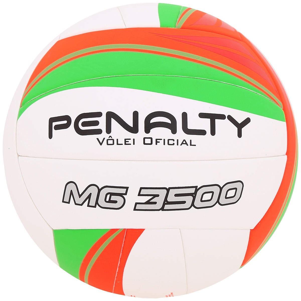 e1a3881b082fe Bola Vôlei Penalty MG 3500 V 520186 1790 - Branco Laranja Verde ...