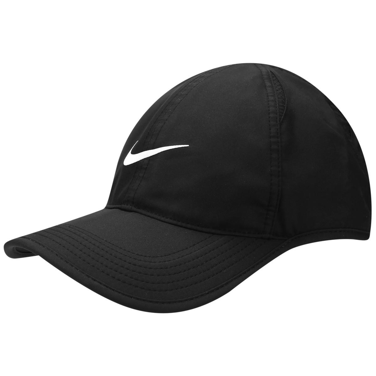 Boné Nike Featherlight Cap 679421-010 - Preto Branco - Botas Online ... 7cbd6f8daa6