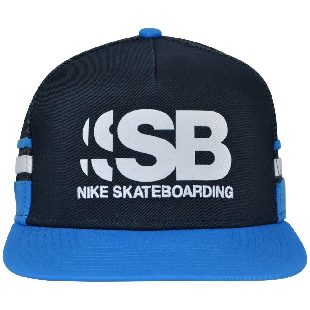Boné Nike SB Cut Trucker 805025-475 - Marinho Branco - Botas Online ... 723d82536ae