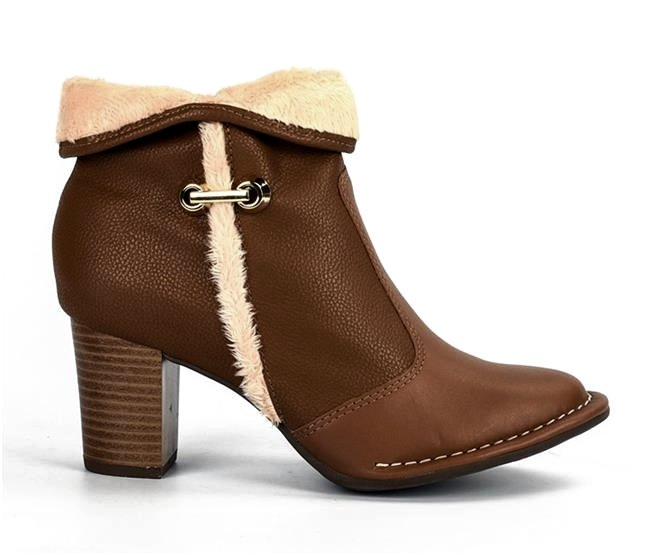 2c7b0a696c Bota Ankle Boot Campesí Conforto L5792 0001 - Caramelo Doce de Leite ...