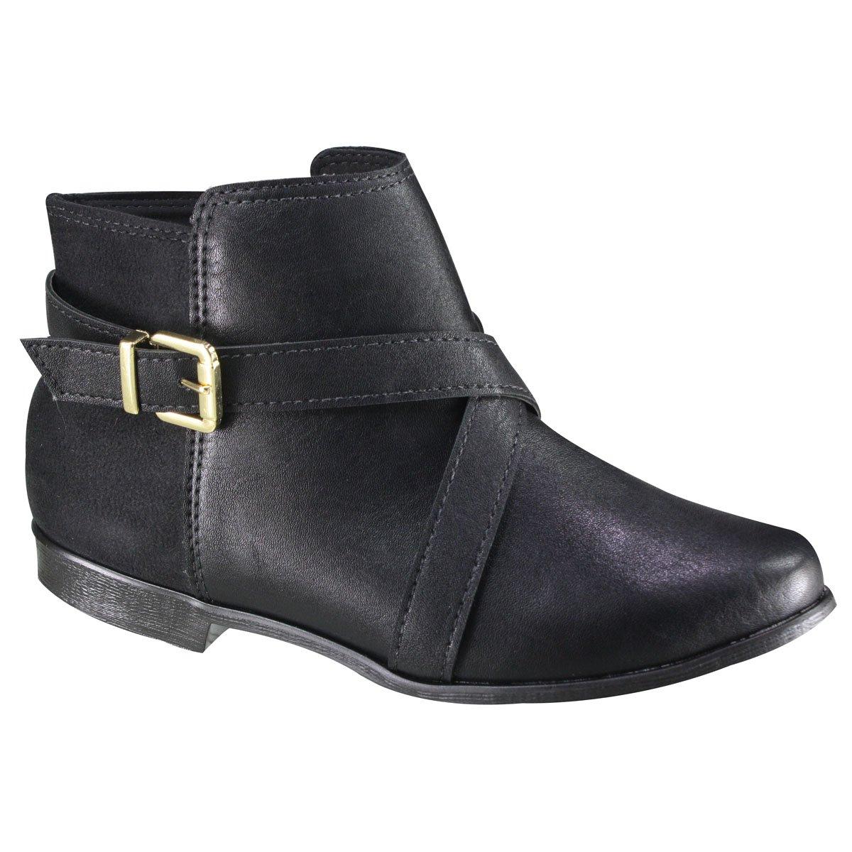 73c07ed6b Bota Ankle Boot Moleca 5304.119 17696 15745 - Preto (Napa Florenza ...