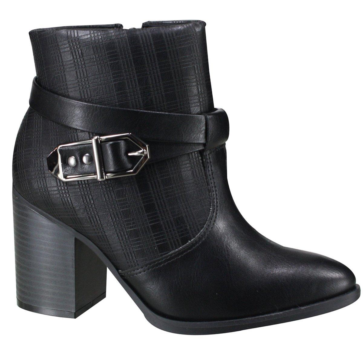 8920ca289 Bota Ankle Boot Ramarim Feminina 19-16101 000003 - Preto (Vegetal ...