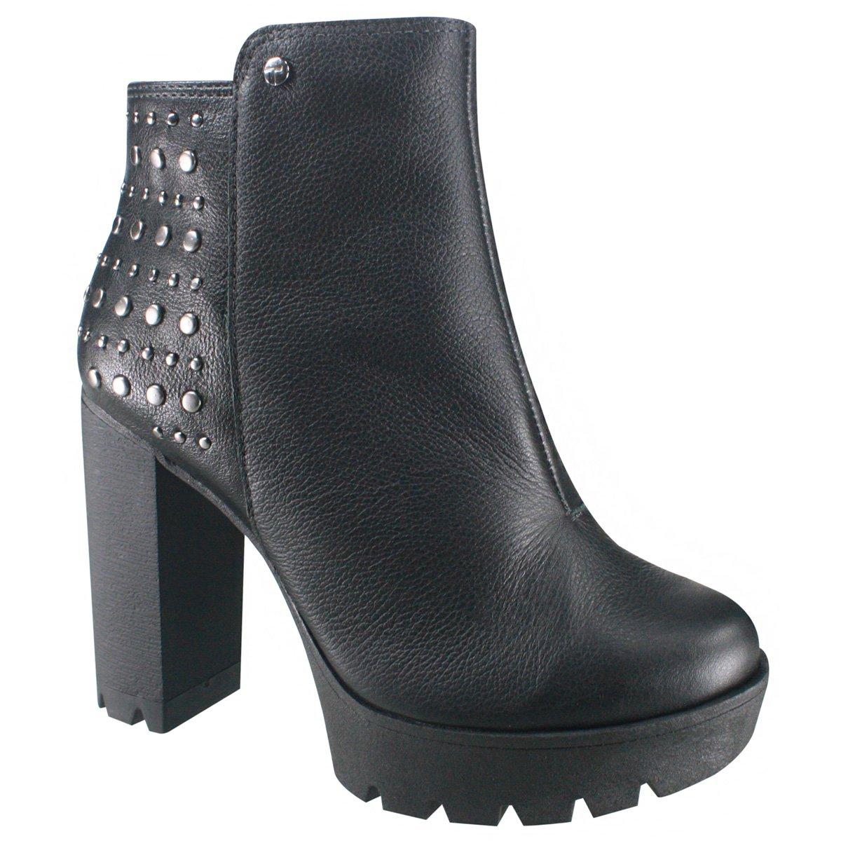 963379bc8 Bota Ankle Boot Tanara em Couro T2365 0001 - Preto (Scarssi) - Botas ...