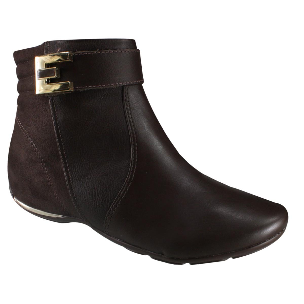 d276eb7d4 Bota Comfortflex Feminina Ankle Boot 17-91301 000011 - Marrom (Soft ...