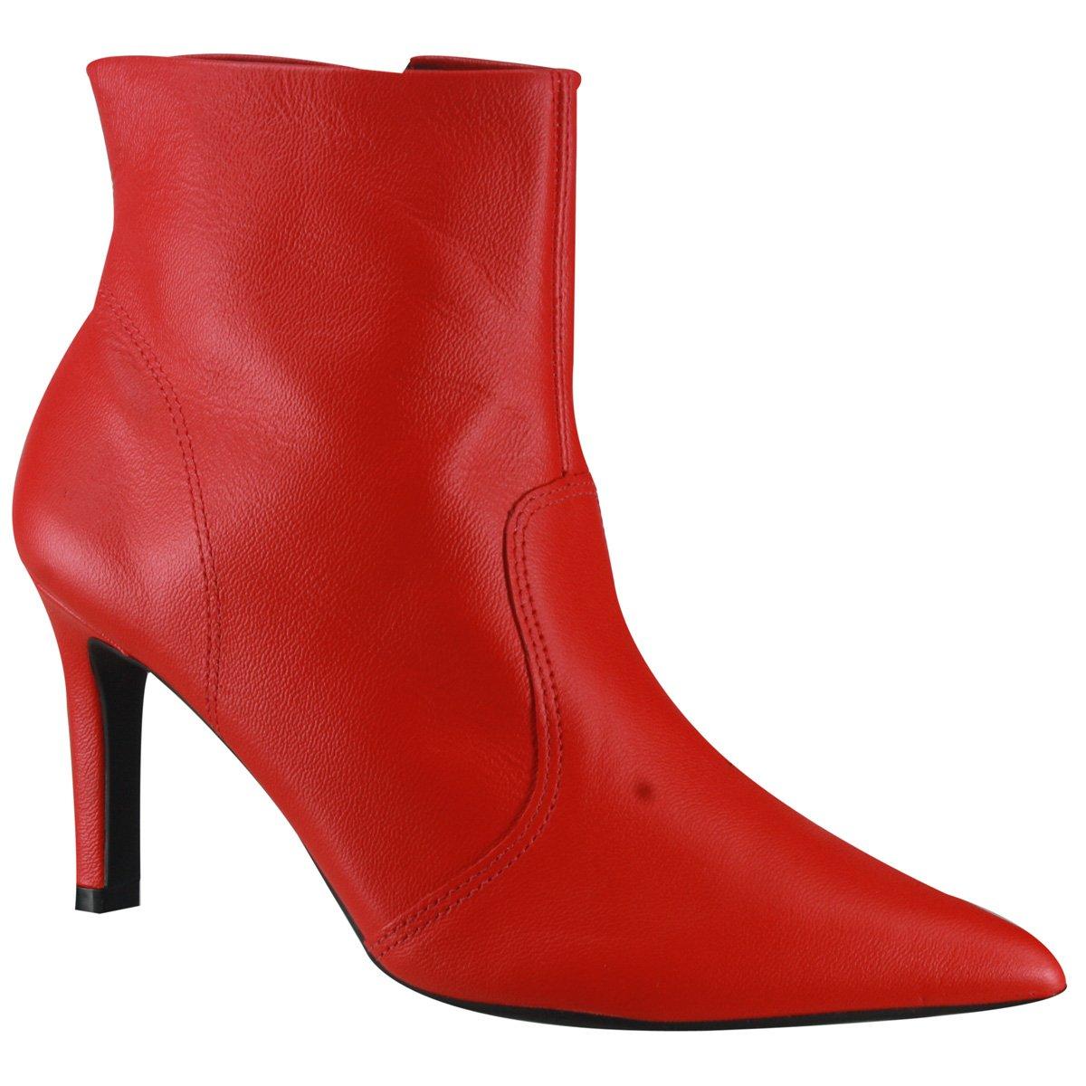 7a12ba73e3 Bota Feminina Ankle Boot Usaflex Z4002 2 - Aurora Red (Caprina ...