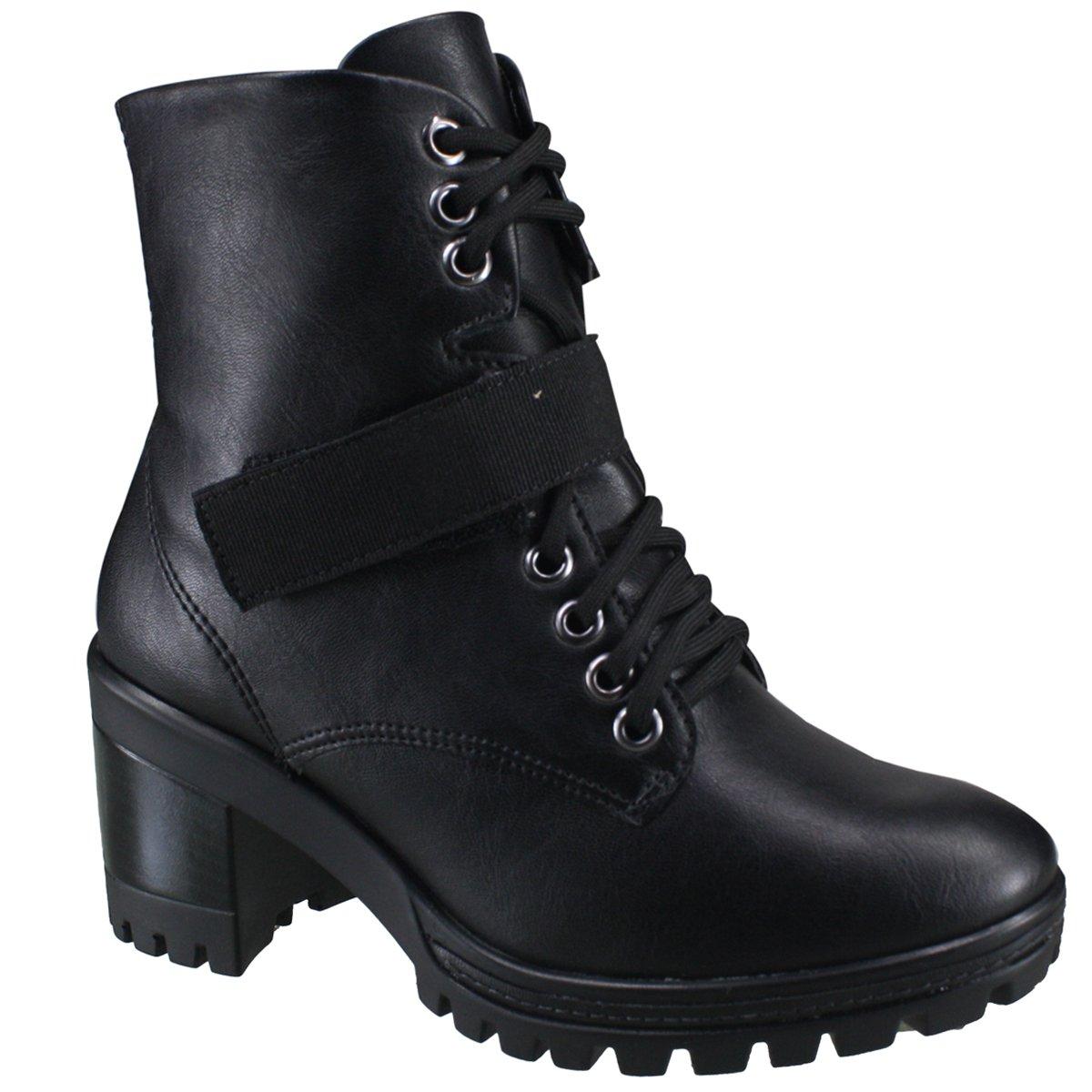 49ad5f02b13 Bota Ramarim Ankle Boot 18-50104 000006 - Preto (Naturale Plus Fita ...