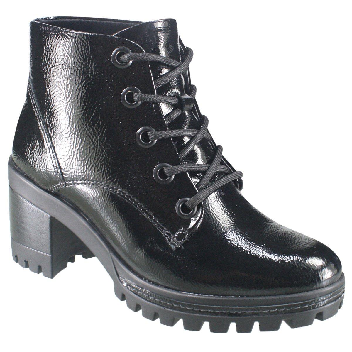 62c0b82428f Bota Ramarim Ankle Boot 18-50102 - Preto (Verniz Show Plus) - Botas ...