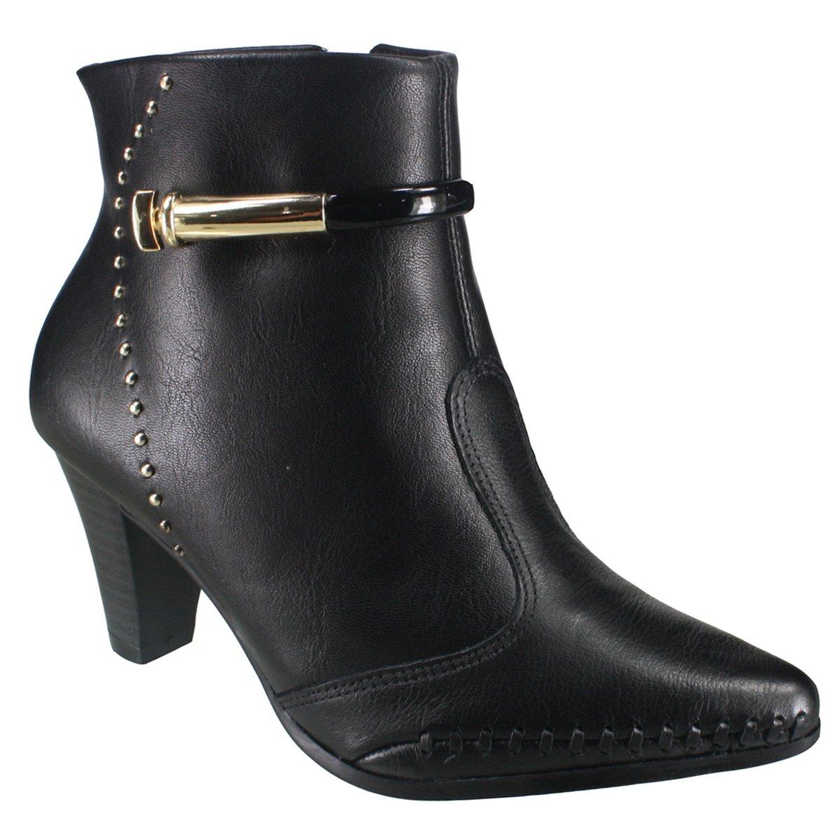 3f17062f7 Bota Ramarim Ankle Boot 18-15101 000001 - Preto (Naturale Soft ...