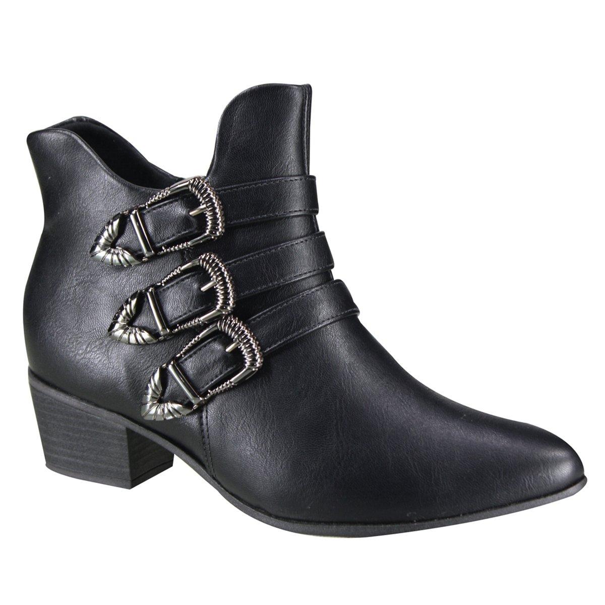 62381b860b4 Bota Ramarim Ankle Boot Feminina 19-59104 000001 - Preto (Vestuário ...
