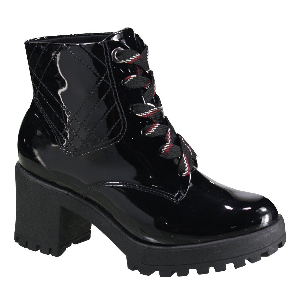 9f9c261c86 Bota Ramarim Ankle Boot Feminina 19-56102 000001 - Preto (Verniz ...