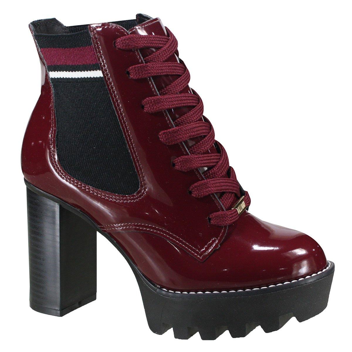 a2996589e9 Bota Vizzano Ankle Boot Feminina 3069.102 17742 66156 - Vinho Preto ...
