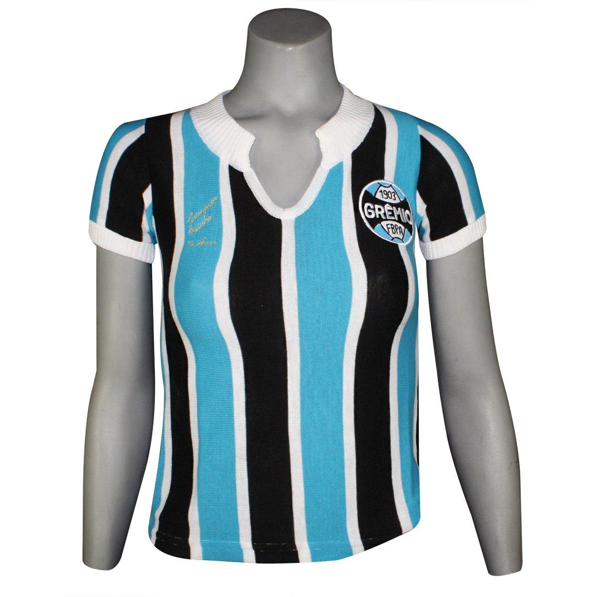 Camisa Feminina Dilva Oldoni Grêmio Retro Replica b385ccb0e050a