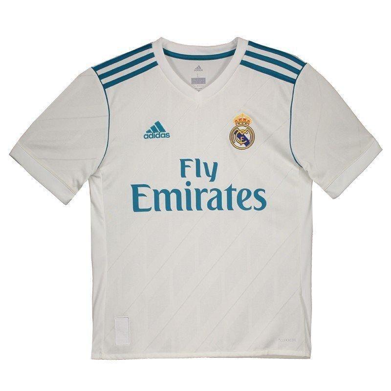 7b4e95254df9b Camisa Infantil Adidas Real Madrid 1 B31111 - Branco Turquesa ...
