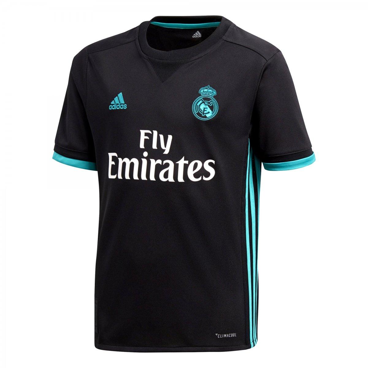 f01a81419 Camisa Infantil Adidas Real Madrid 2 B31092 - Preto Turquesa - Botas ...