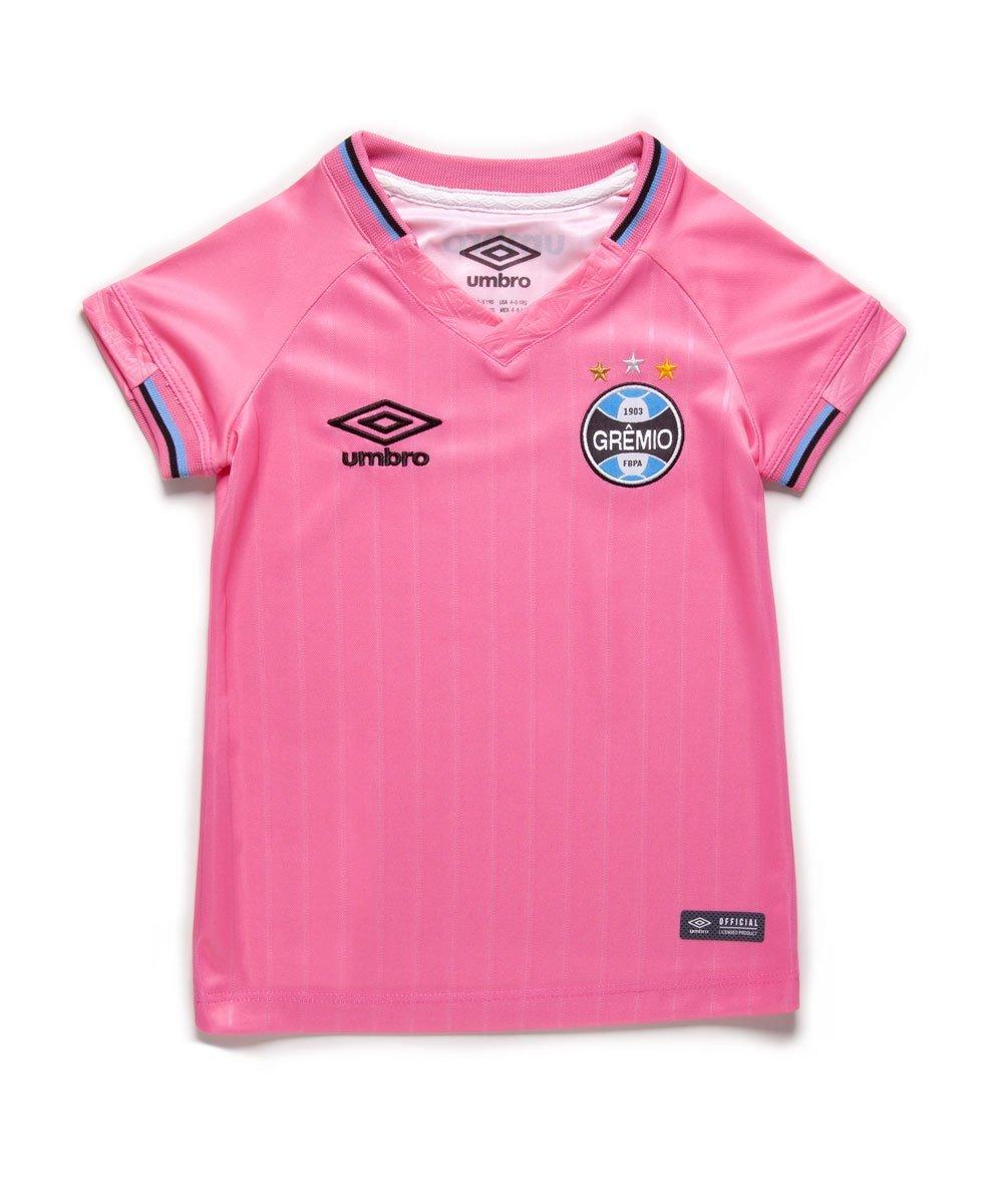 2bc645bc2 Amplie a imagem. Camisa Infantil Umbro Grêmio Outubro Rosa 2018 19  Camisa  Infantil Umbro Grêmio Outubro ...