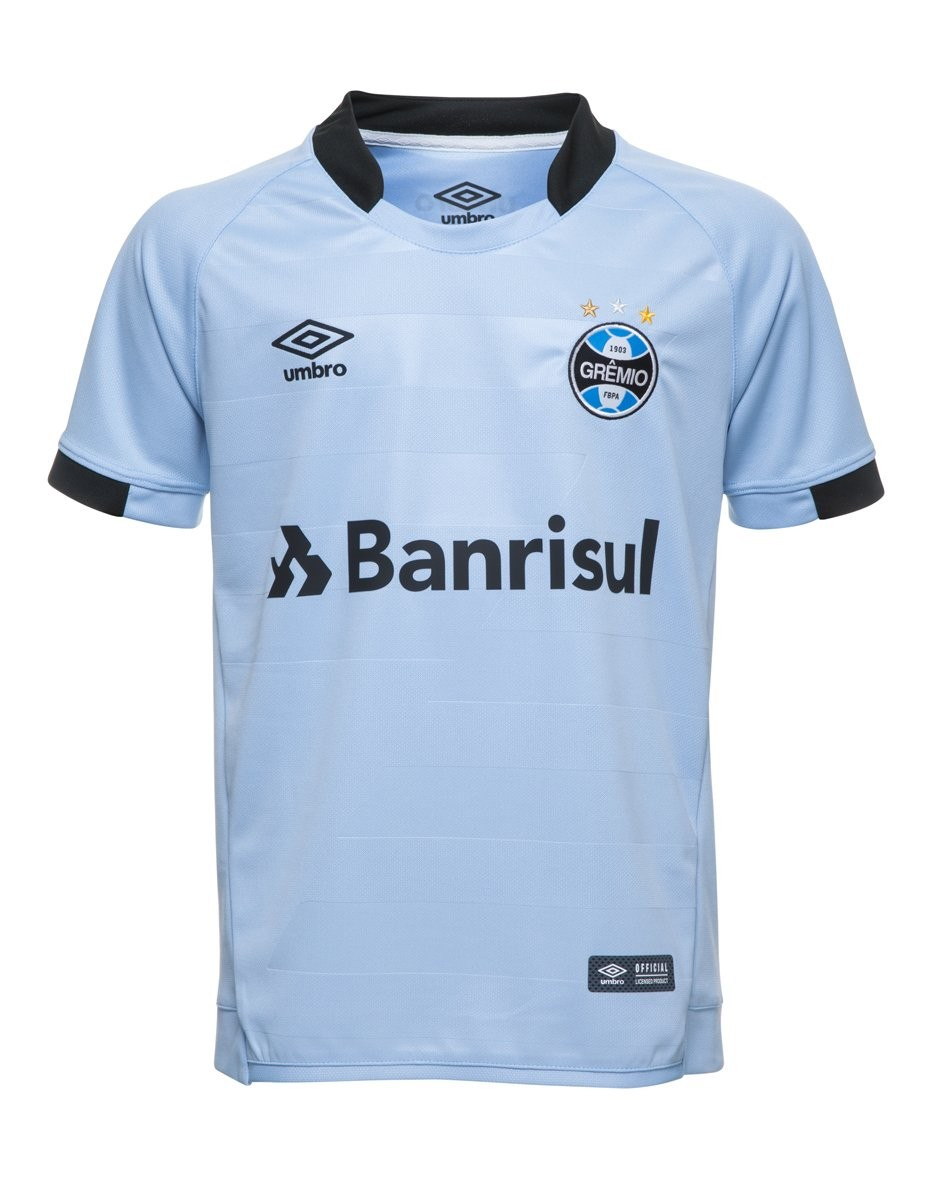 Camisa Juvenil Umbro Grêmio Oficial II 2017 3G160098 313 - Celeste ... e5f0fc8c8e477
