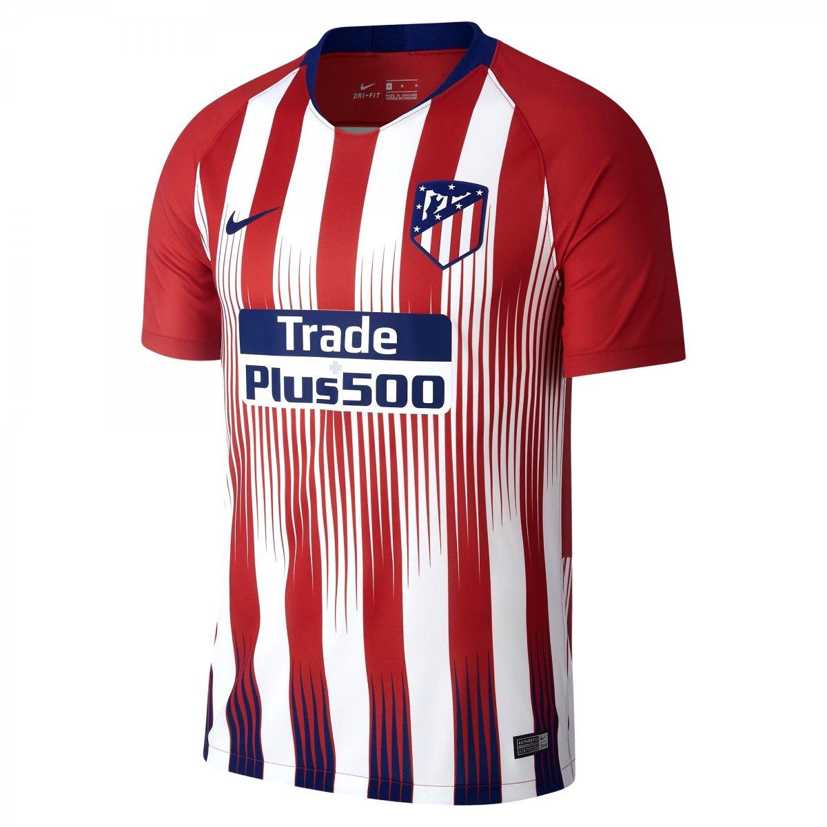 Amplie a imagem. Camisa Masculina Nike Atletico de Madrid 2018 19  Camisa  Masculina Nike Atletico ... a10b793740c1d