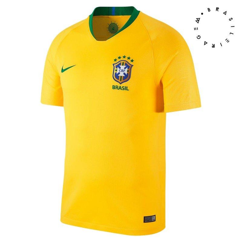 52aa508656235 Passe o mouse para ver detalhes. Amplie a imagem. Camisa Masculina Nike Brasil  2018 ...