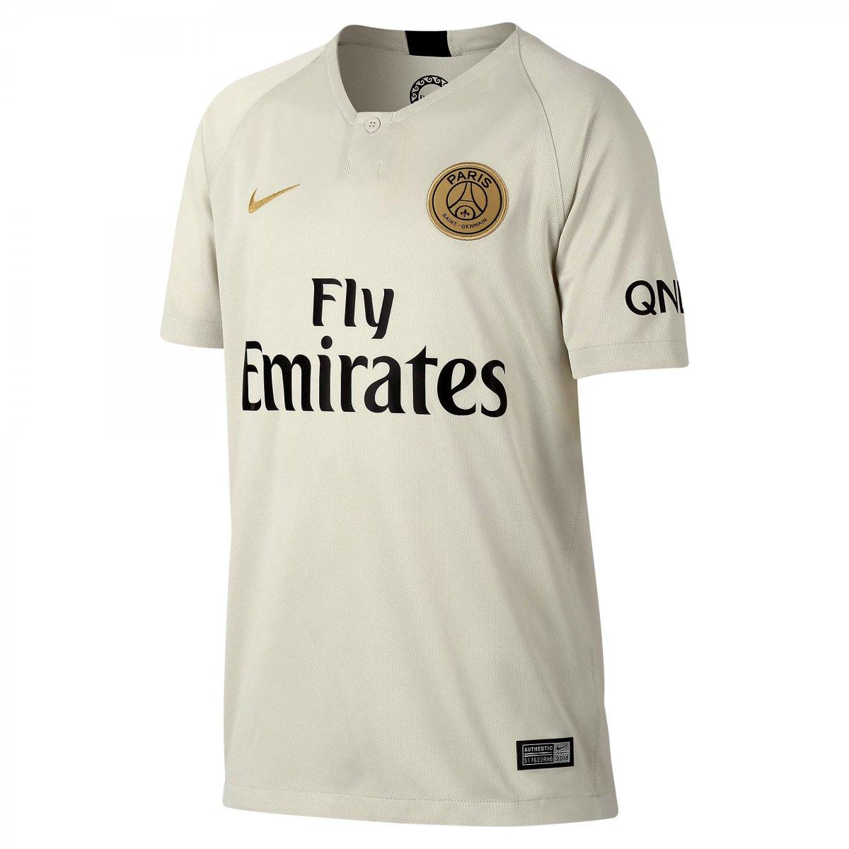Camisa Psg II 2018 19 Torcedor Infantil Nike 919254-073 - Bege ... 7fa5c081692fb
