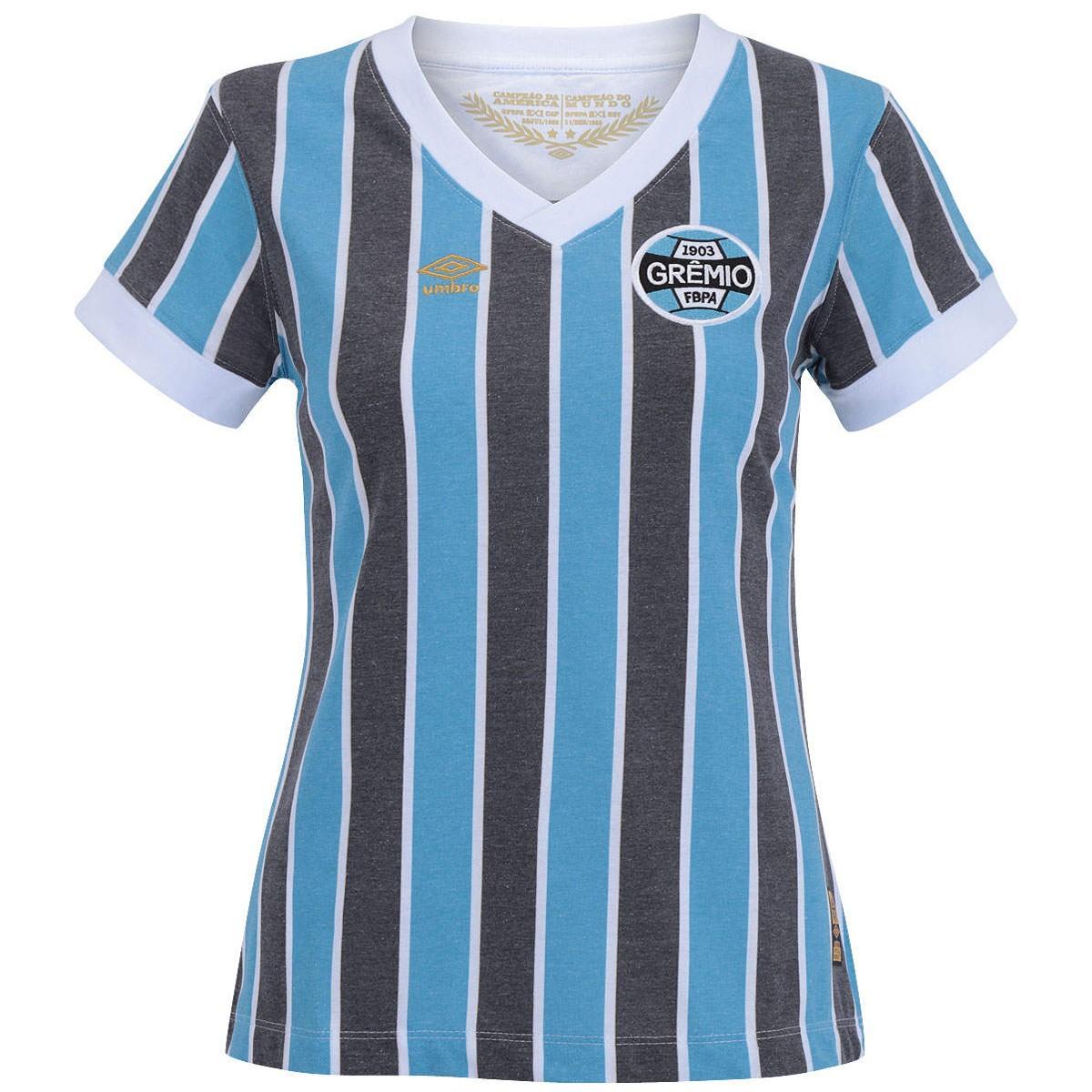 d6b1507f10ace Camisa Umbro Grêmio Feminina Retro 1983 3G00032 - Listrada - Botas ...