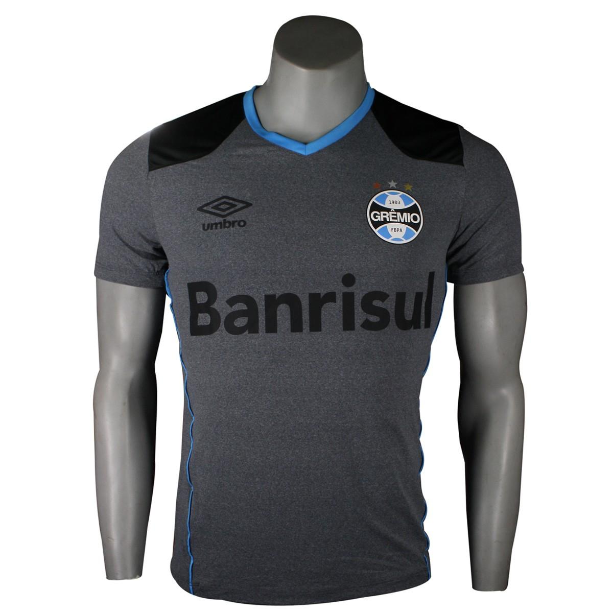 1d3eb3b60 Amplie a imagem. Camisa Umbro Sem Número Grêmio Masculina Aquecimento 2016   Camisa Umbro Sem ...