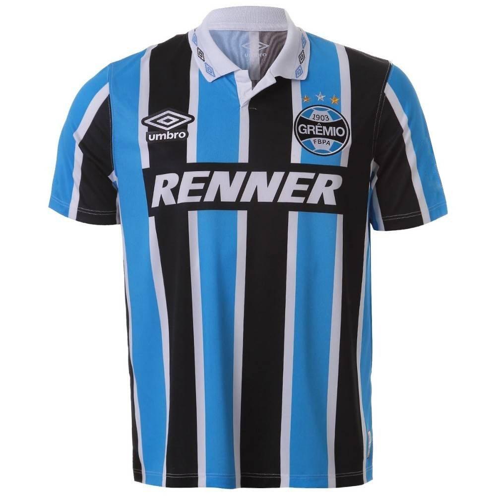 Amplie a imagem. Camiseta Grêmio Umbro Tricolor Bi Libertadores 1995  Camiseta  Grêmio Umbro ... 52075eb97d9a8