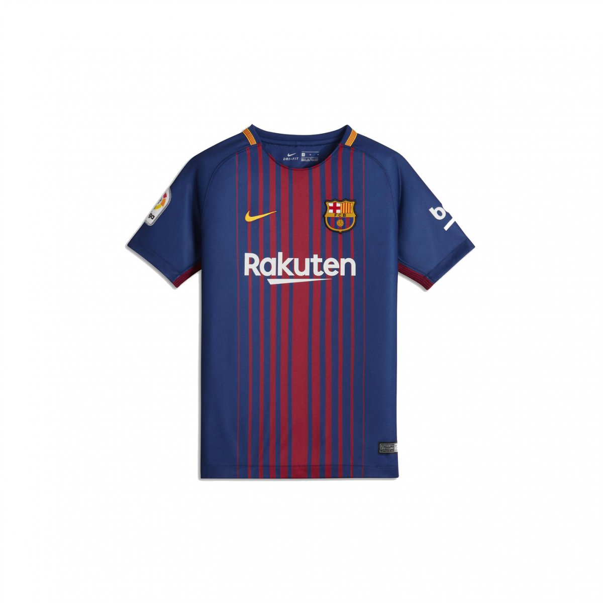 0ba1bd7fb Camiseta Infantil Nike Barcelona Dry Stadium Home 2017 18 (Com Logo ...