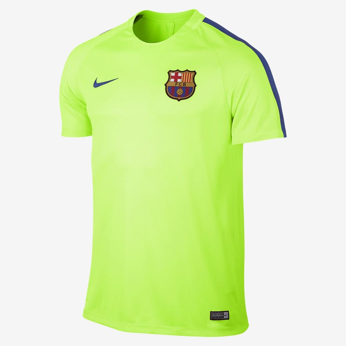 e4c95f5fc8 Camiseta Nike FC Barcelona Dry Squad 808924-369 - Verde Limão/Azul ...