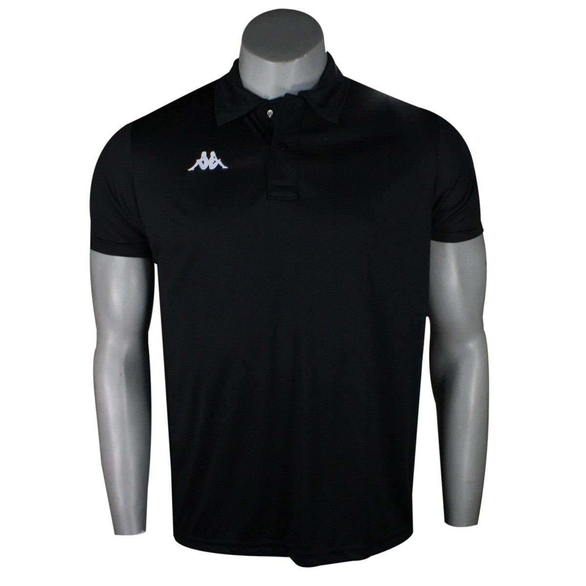 f5d26d902597a Camiseta Kappa Polo Masculina Sewill 302UXT0 N001 - Preto - Botas ...