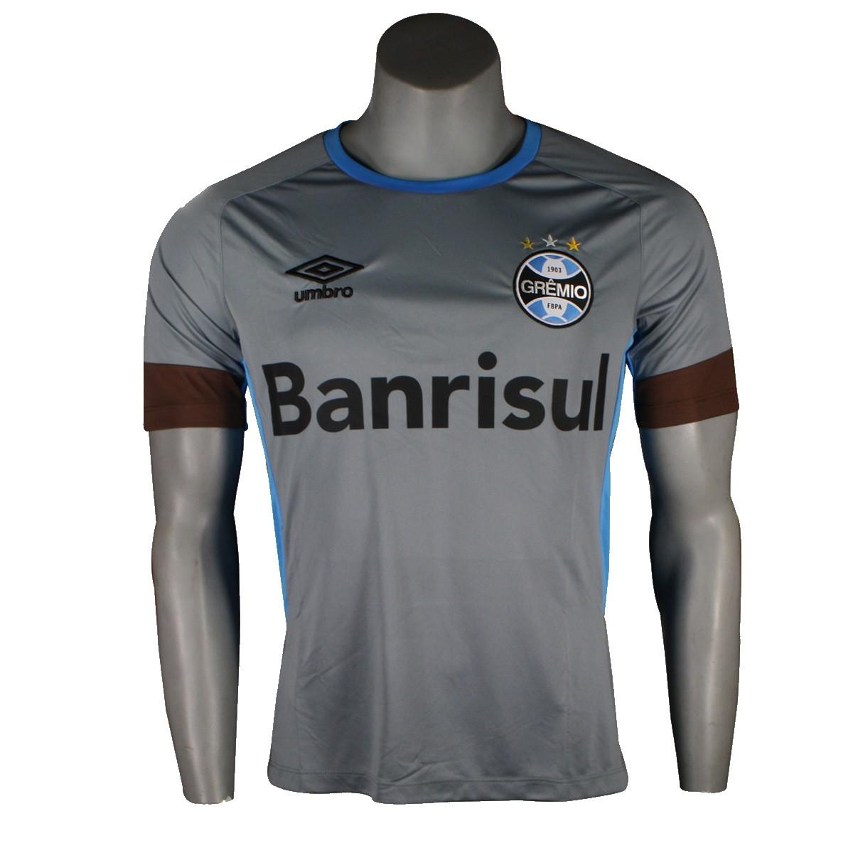 3c9fc42bbc00c Amplie a imagem. Camiseta Umbro Grêmio Treino 2016 Masculina Sem Número   Camiseta ...