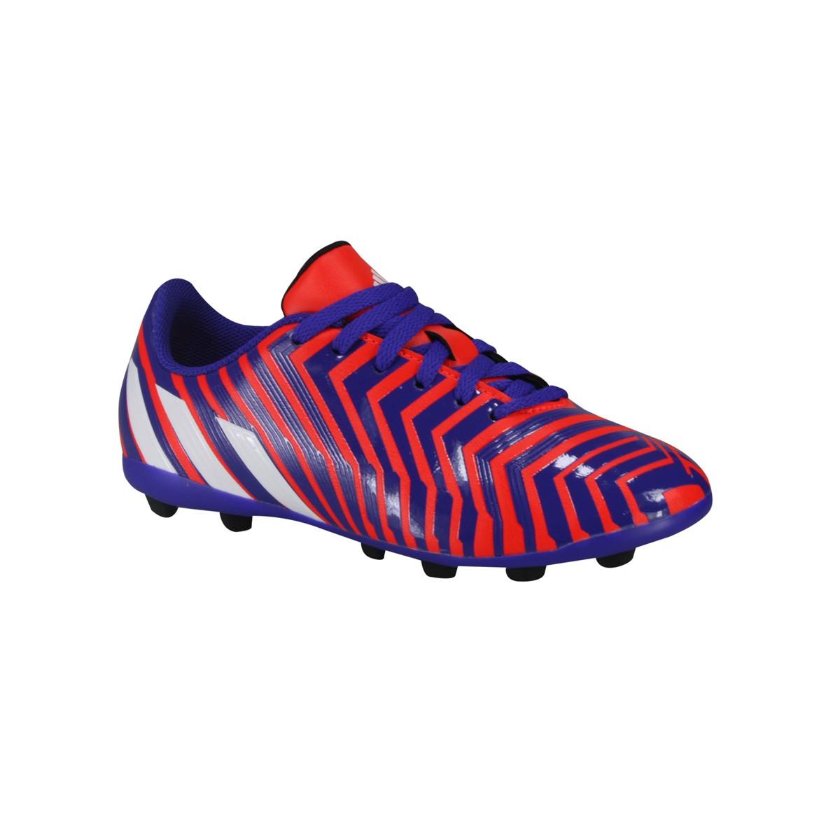 Chuteira Adidas Predito FxG J Infantil B44358 - Laranja Roxo - Botas ... 671621a3e537c