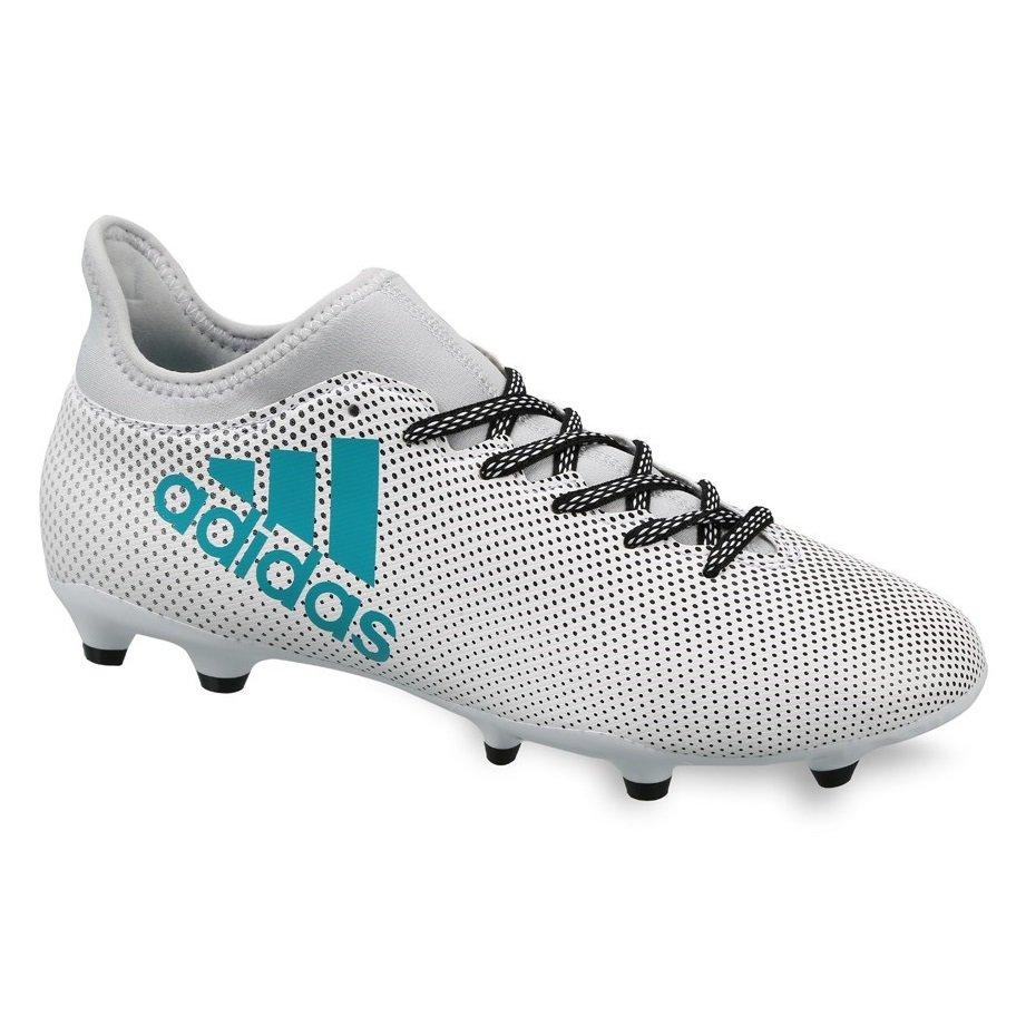 Chuteira Campo Adidas X 17.3 FG S82362 - Branco Preto - Botas Online ... ffa07cd93eb06