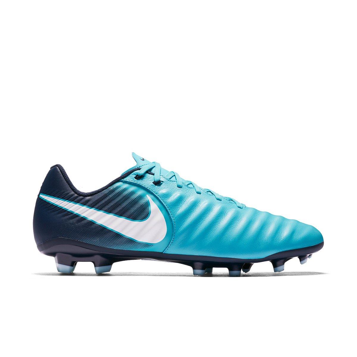 Chuteira Campo Nike Tiempo Ligera IV FG 897744-414 - Marinho Azul ... c8a6d161990b0
